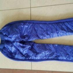 Зимние дутые штаны на пуху р. 38-42 новые