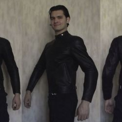 Кожаная куртка kushitani single jacket