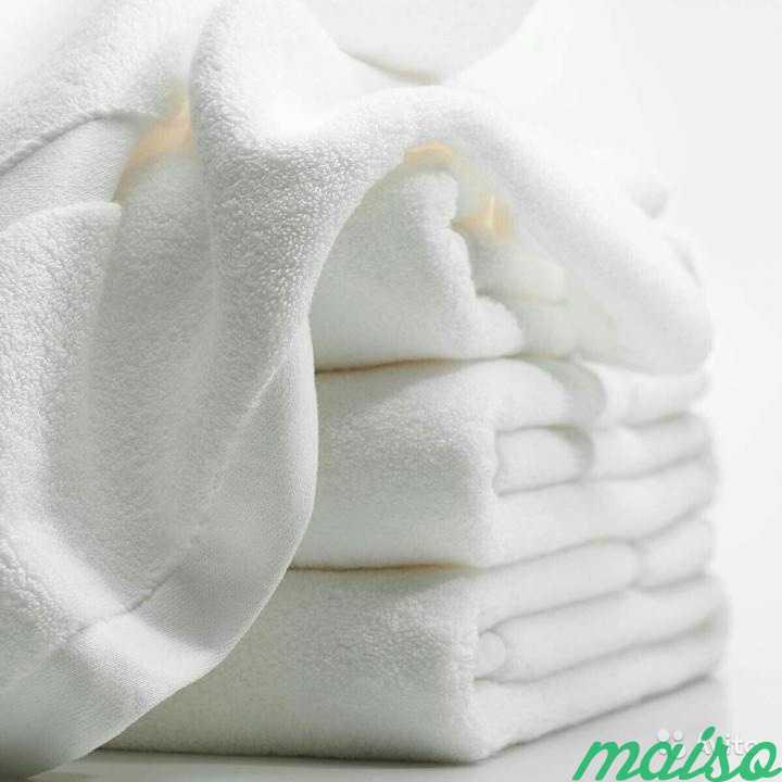 Белые махровые полотенца, Корея, новые в Москве. Фото 1
