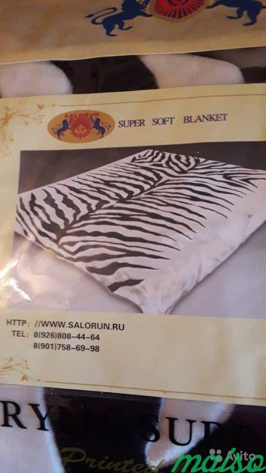 Двухспальный плед - зебра, объемный в Москве. Фото 3