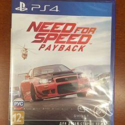 Need for Speed: Payback для PS4 коробка запечатана