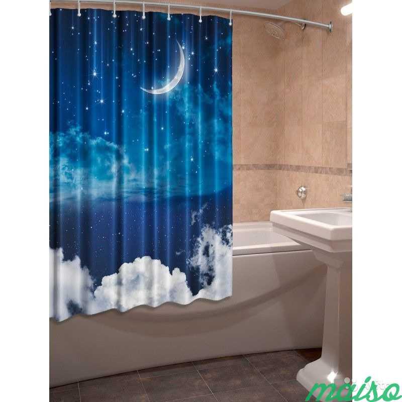 Фотошторы для ванной 3D Много в Москве. Фото 8