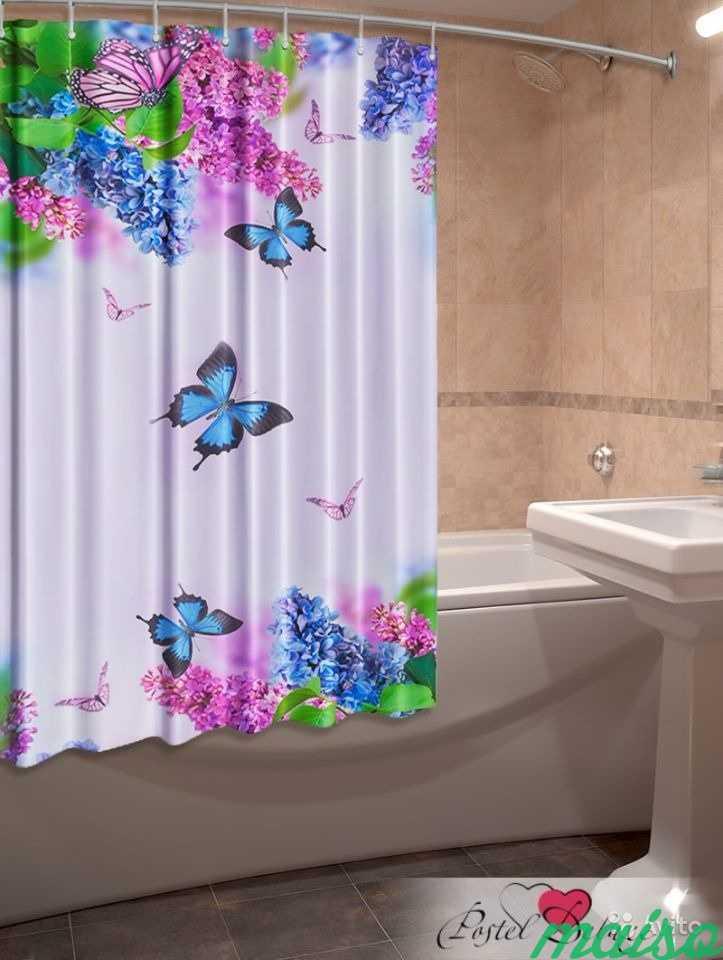 Фотошторы для ванной 3D Много в Москве. Фото 7