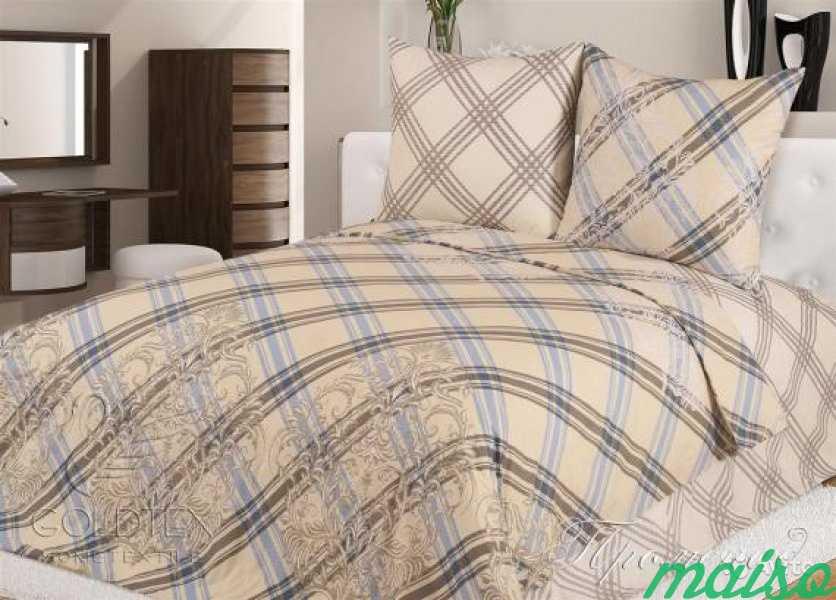 Новый комплект постельного белья Евро Поплин в Москве. Фото 1