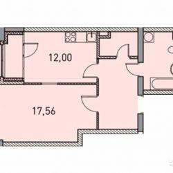 1-к квартира, 49.4 м², 5/31 эт.
