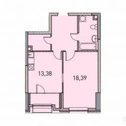 1-к квартира, 51.4 м², 2/31 эт.