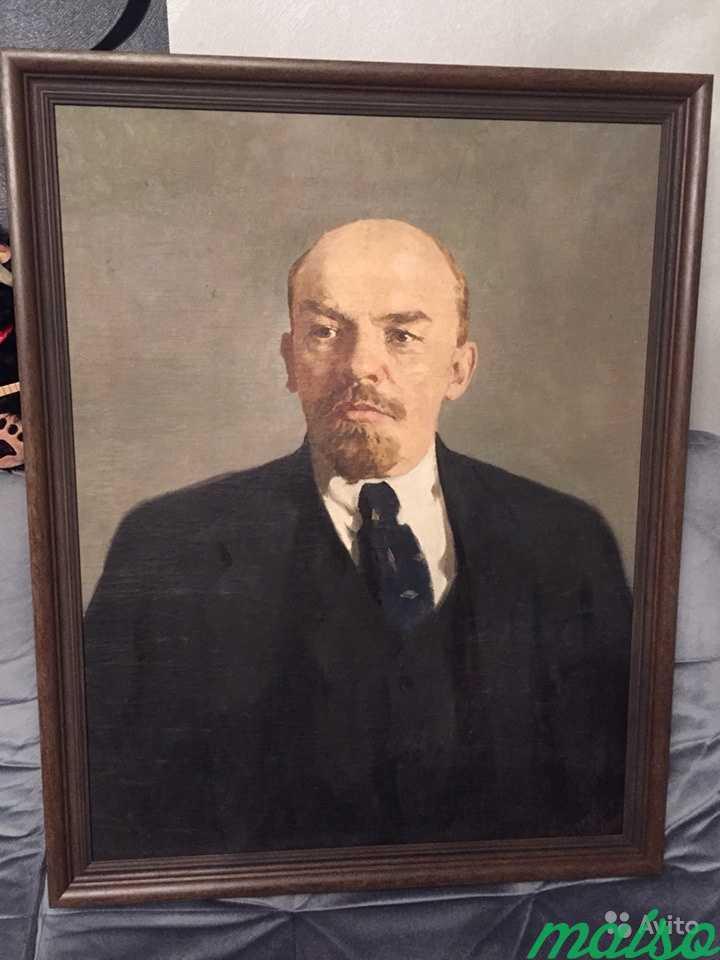 Картина Ленин масло холст в Москве. Фото 2