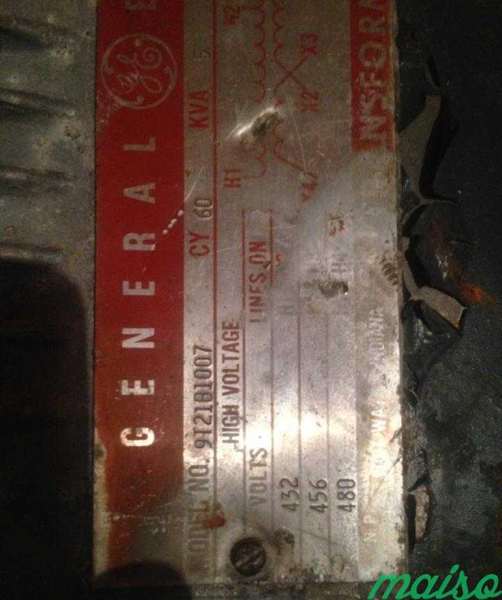 Трансформатор General Electric 480V 9T21B1007 в Москве. Фото 3