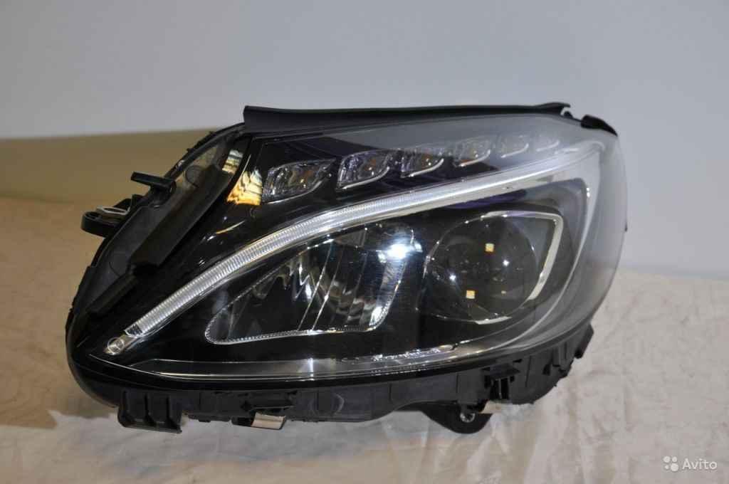 Фара передняя левая LED Mercedes W205 одна линза в Москве. Фото 1