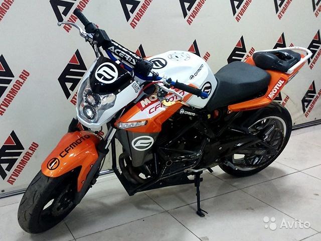 Мотоцикл cfmoto 650 NK оранжевый б/у в Москве. Фото 1