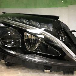 Фара правая на Mercedes Benz W205 (пр)