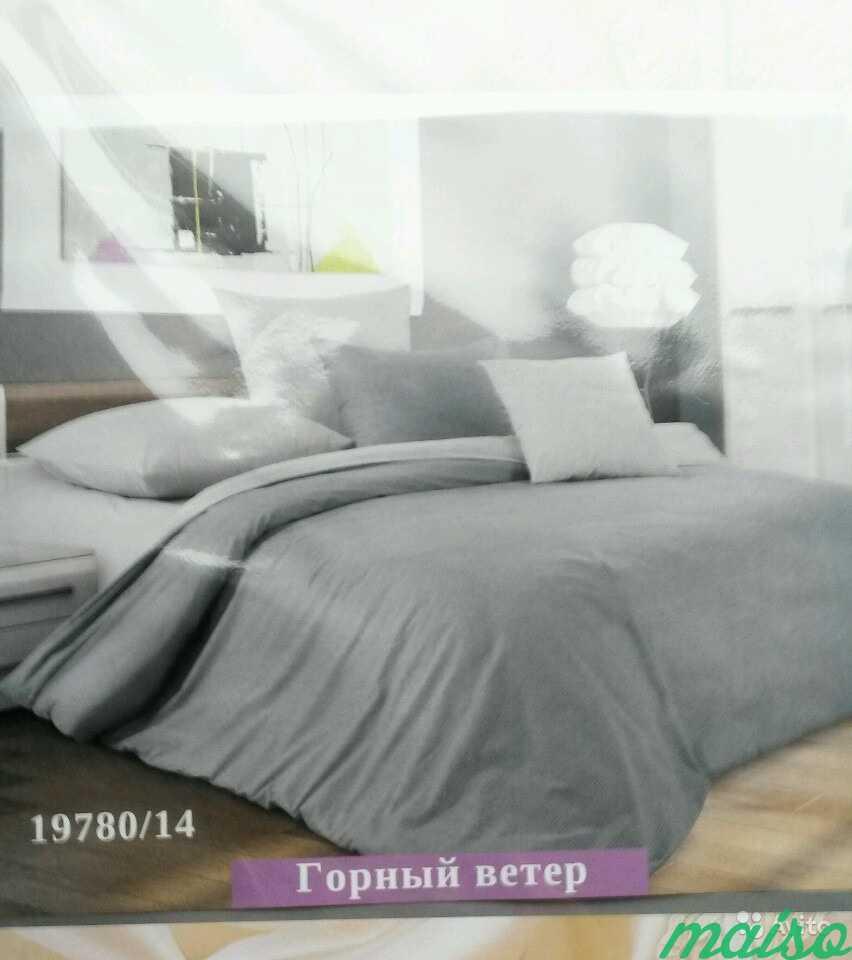 Комплект постельного белья (евро), цвет серый в Москве. Фото 2
