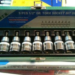Головки (набор) honiton torx 9пр. 1/2 новый