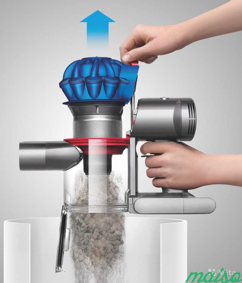 как открыть пылесборник пылесоса дайсон
