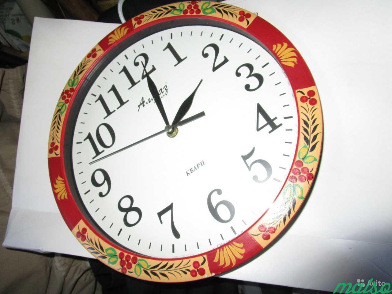 Часы настенные кварц Алмаз хохлома роспись в Москве. Фото 1