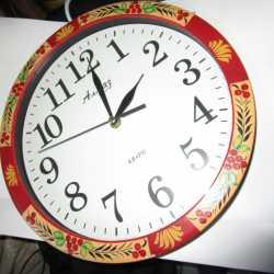Часы настенные кварц Алмаз хохлома роспись