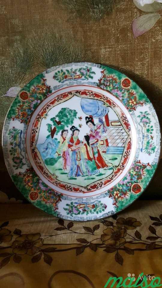 Тарелка декоративная 6 шт. Старый Китай в Москве. Фото 1
