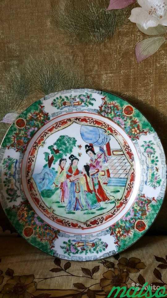Тарелка декоративная 6 шт. Старый Китай в Москве. Фото 3