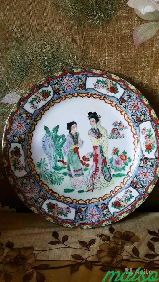 Тарелка декоративная 6 шт. Старый Китай в Москве. Фото 2