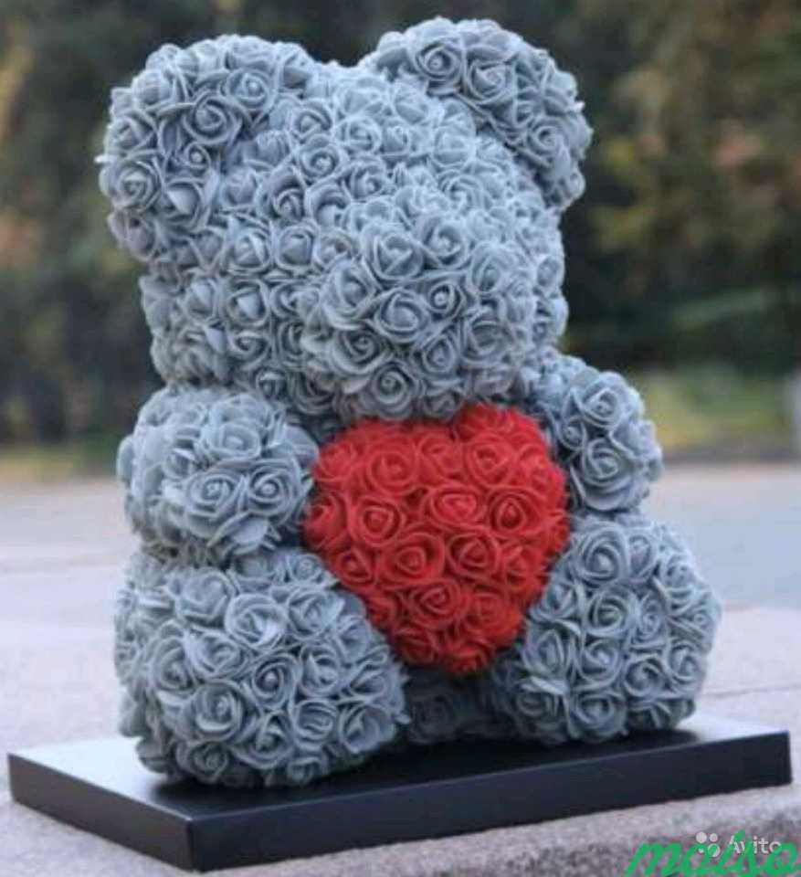 Мишки из роз в Москве. Фото 5