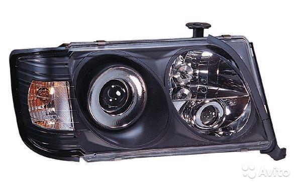 Фары Мерседес 124 1985-1995 черные с поворотниками в Москве. Фото 1