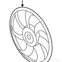 Крыльчатка вентилятора Kia Sportage 2010