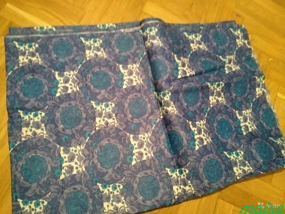Натуральные ткани СССР для шитья, отрез ткани в Москве. Фото 2