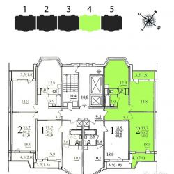 Продам квартиру 2-к квартира 64 м² на 3 этаже 17-этажного панельного дома