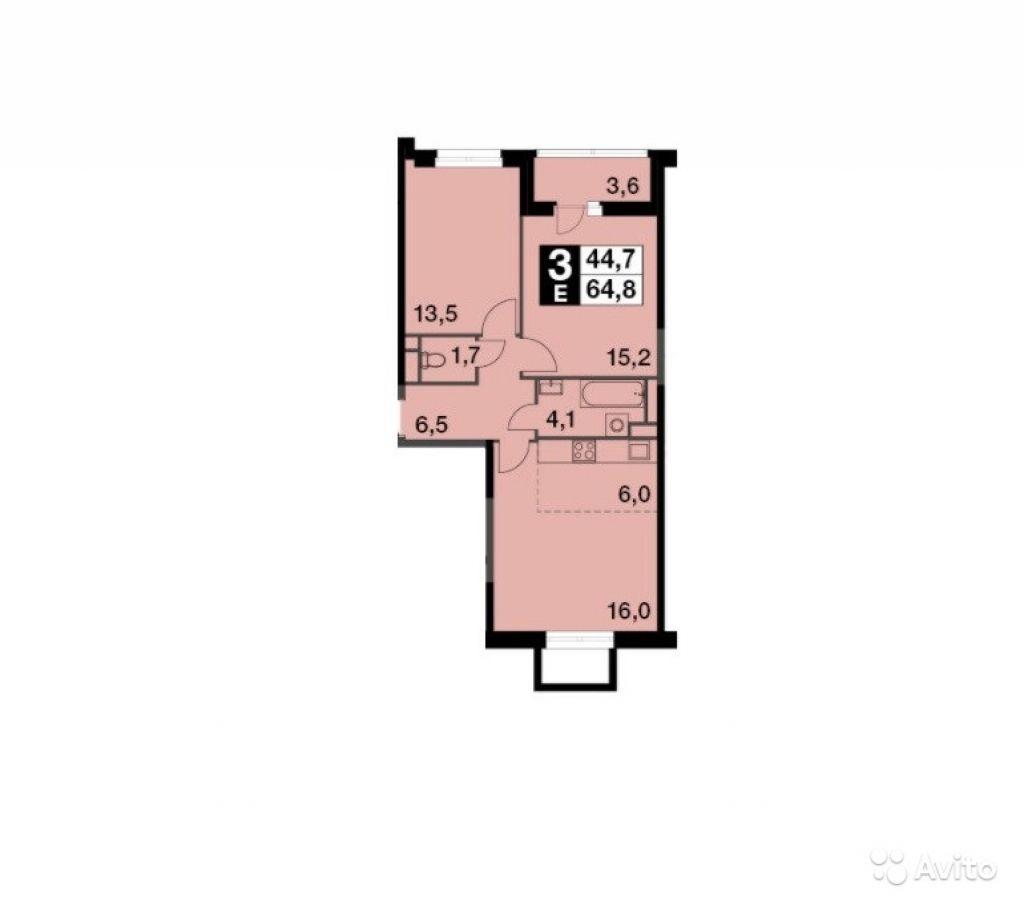 Продам квартиру в новостройке 3-к квартира 67.2 м² на 16 этаже 19-этажного монолитного дома в Москве. Фото 1
