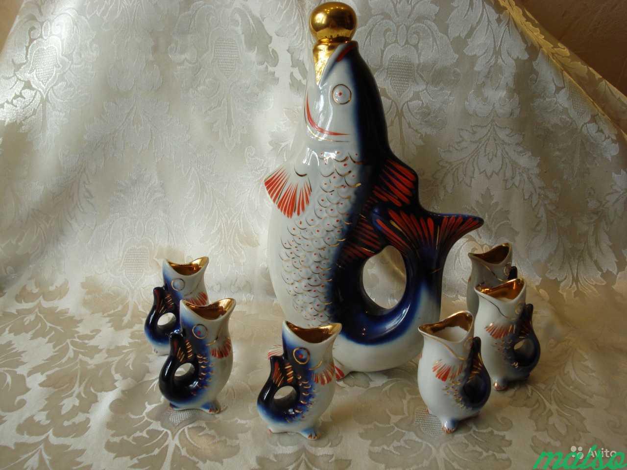 Штоф Рыбка и 6 рюмок рыбок в Москве. Фото 1