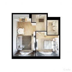 Продам квартиру в новостройке Мкр. «Жемчужина Зеленограда» 1-к квартира 42.2 м² на 2 этаже 12-этажного монолитного дома , тип участия: ДДУ