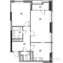 Продам квартиру в новостройке ЖК «Эталон-Сити» , Корпус 2. Очередь 2 2-к квартира 72 м² на 26 этаже 31-этажного монолитного дома , тип участия: ДДУ