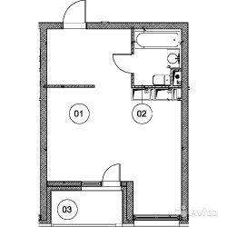 Продам квартиру в новостройке ЖК «Эталон-Сити» , Корпус 3. Очередь 1 1-к квартира 36 м² на 22 этаже 31-этажного монолитного дома , тип участия: ДДУ