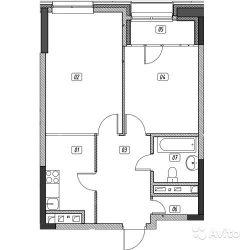 Продам квартиру в новостройке ЖК «Эталон-Сити» , Корпус 3. Очередь 2 2-к квартира 56 м² на 27 этаже 31-этажного монолитного дома , тип участия: ДДУ