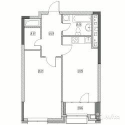 Продам квартиру в новостройке ЖК «Эталон-Сити» , Корпус 5. Очередь 2 1-к квартира 54 м² на 25 этаже 31-этажного монолитного дома , тип участия: ДДУ