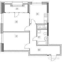 Продам квартиру в новостройке ЖК «Эталон-Сити» , Корпус 6. Очередь 2 2-к квартира 63 м² на 22 этаже 31-этажного монолитного дома , тип участия: ДДУ