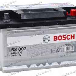 Аккумулятор Bosch S3007 70 А/ч 640 A обр. пол