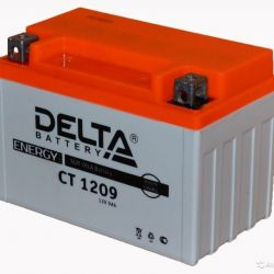 Мото-Аккумулятор Delta CT1209 12V 9 А/Ч 135 А прям