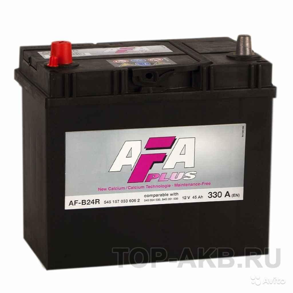 Аккумулятор AFA 45L 330A 238x129x227 узкие кл. 45А в Москве. Фото 1