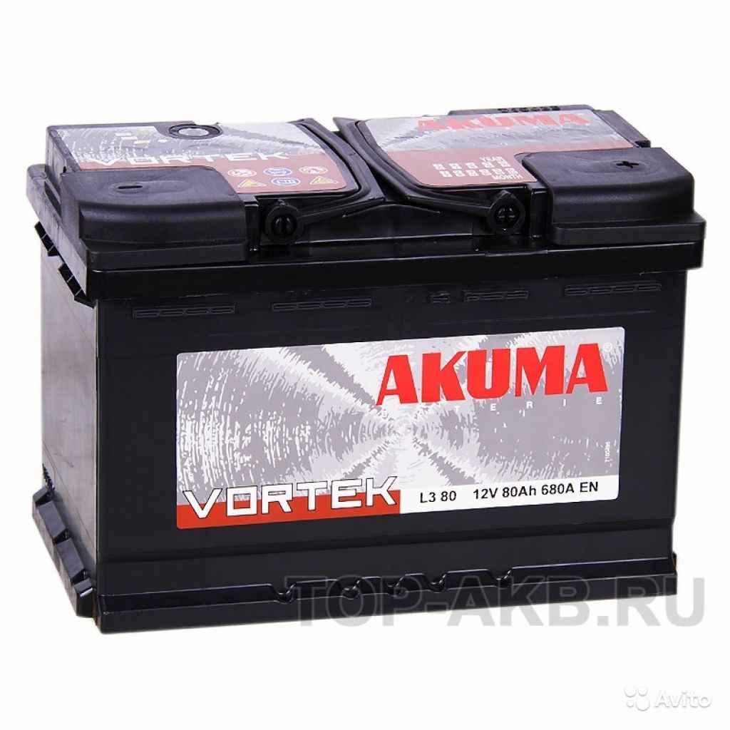 Аккумулятор Akuma Vortek 80R 680A (278x175x190) 80 в Москве. Фото 1