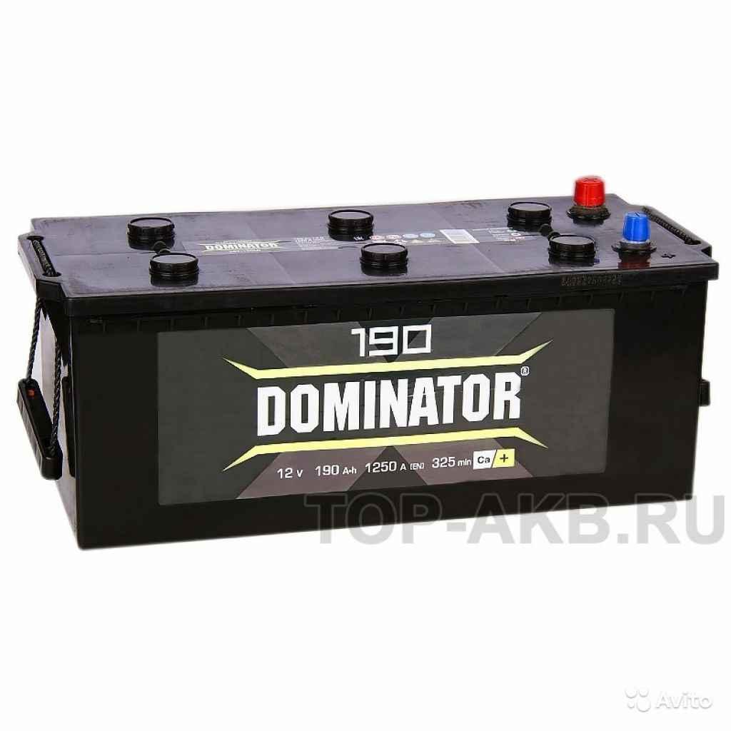 Аккумулятор Dominator 190 рус 1300А 513x223x223 19 в Москве. Фото 1