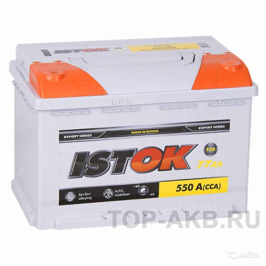 Аккумулятор istok 77L 550A (278x175x190) 77А/ч Пря в Москве. Фото 1