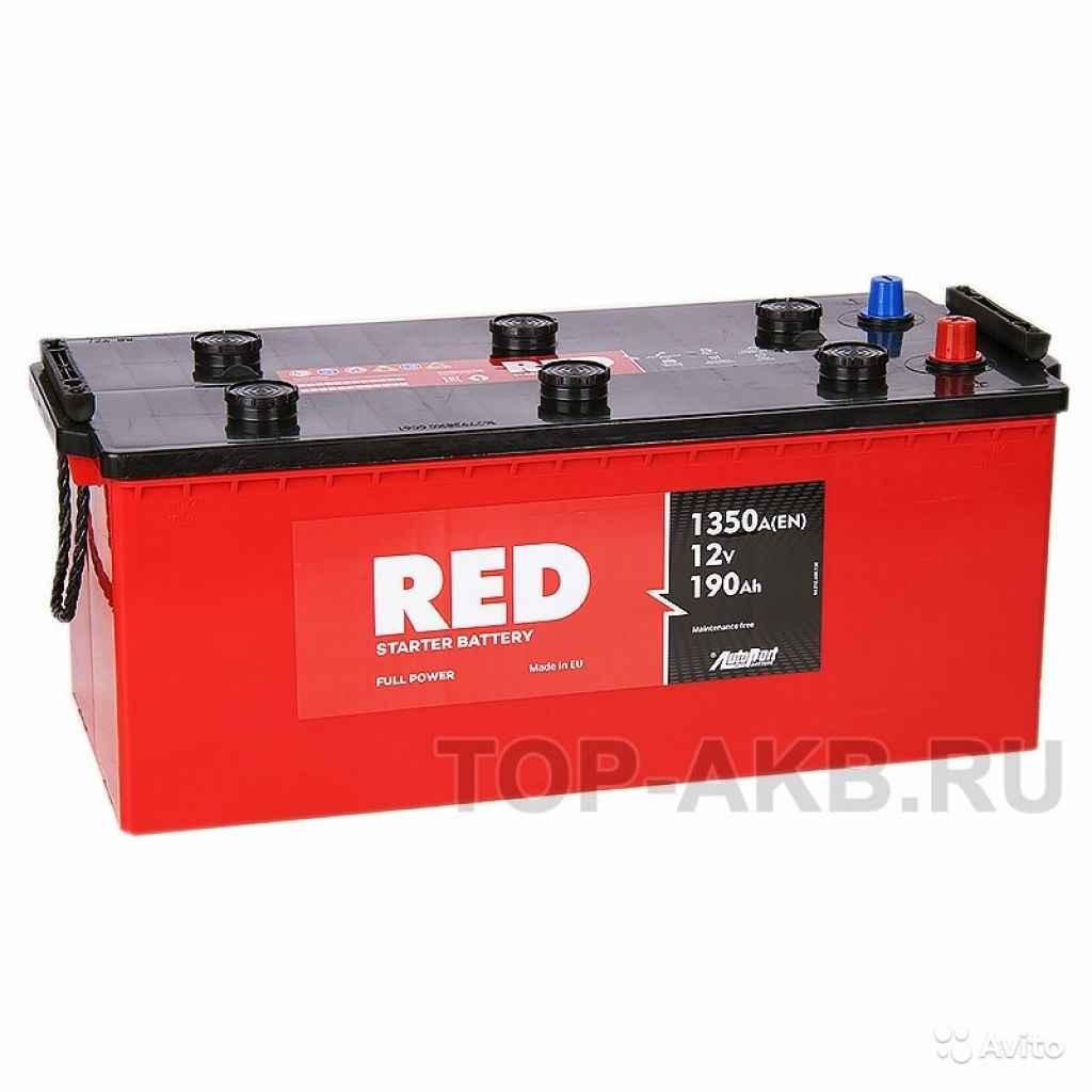 Аккумулятор Red 190 euro (1300А 513x223x217) 190А в Москве. Фото 1