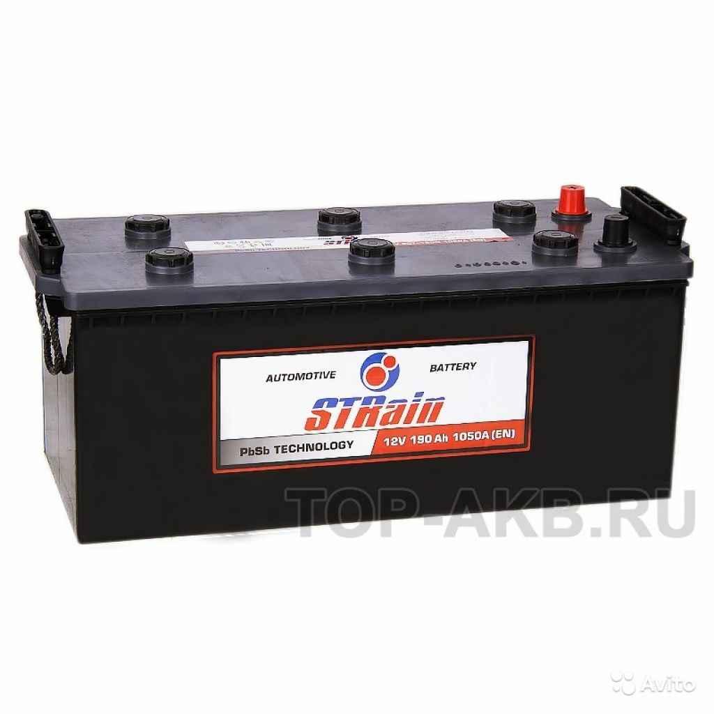 Аккумулятор STrain 190 рус 1050A 513x223x223 190А в Москве. Фото 1