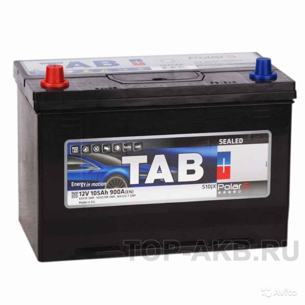 Аккумулятор Tab Polar S 105D31R (105L 900А 301x175 в Москве. Фото 1