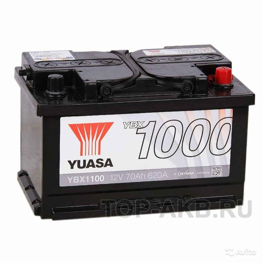 Аккумулятор yuasa YBX1000 70R низкий (620А 278x175 в Москве. Фото 1