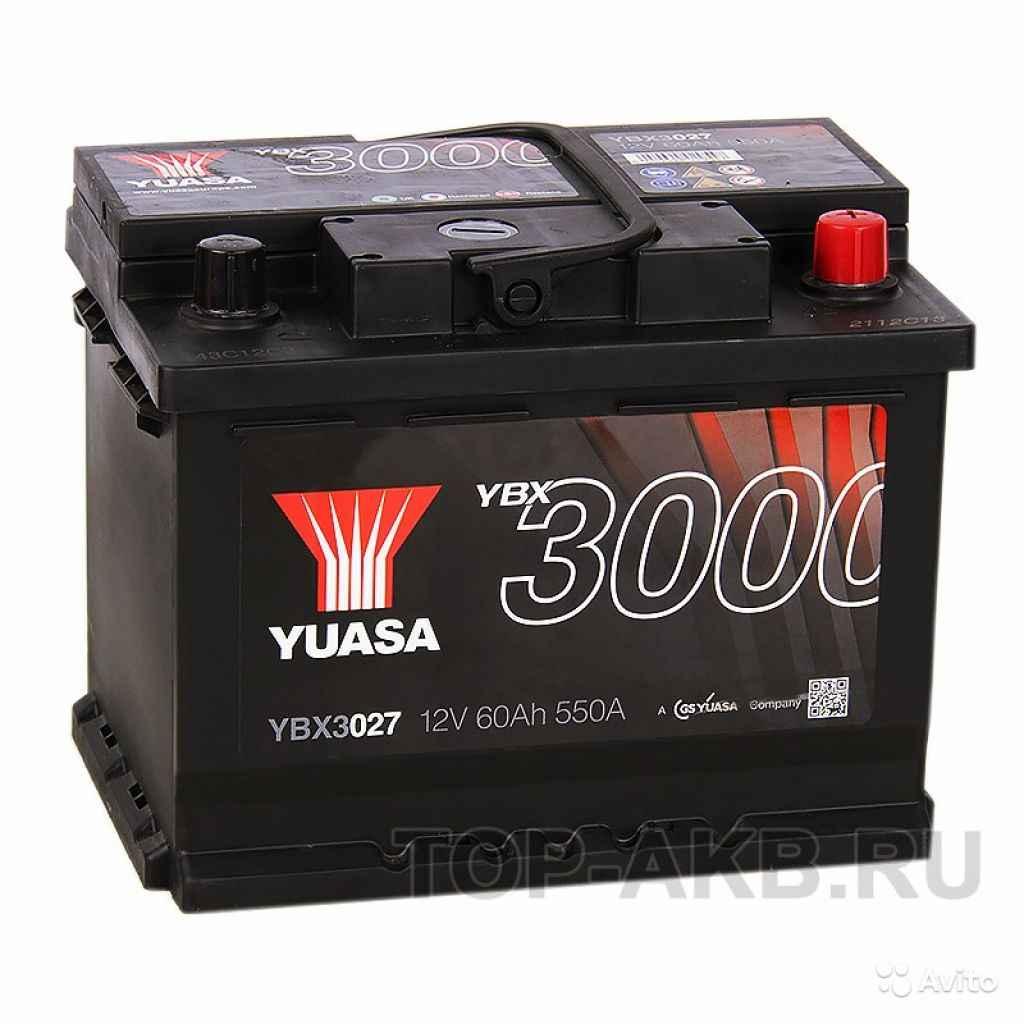 Аккумулятор yuasa YBX3000 60R (550А 242x175x190) Y в Москве. Фото 1