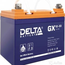 Аккумулятор для ибп/UPS Delta GX 12-33 (12 вольт 3