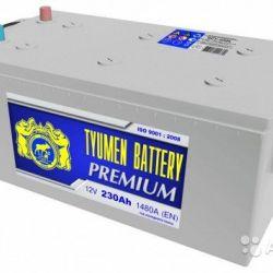 Грузовой аккумулятор Тюмень premium 230 А.ч Обратн
