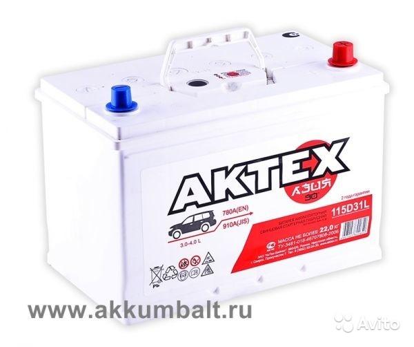 Аккумулятор Актех Азия 115D31L в Москве. Фото 1